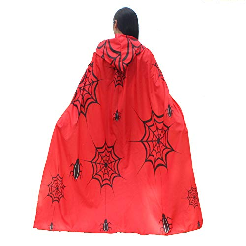 Halloween/Party Prop Novelty Print Chiffon Butterfly Wing Cape Scarf Peacock Poncho Shawl Wrap (Red-Spider Web) ()