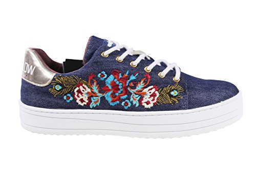 Azul Vaquero Desigual Mujer Para Zapatillas qwxw7tY