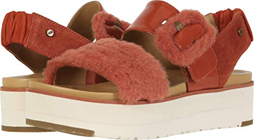 UGG Women's Le Fluff Red Rock 9.5 B US (Uggs Leather Patent)