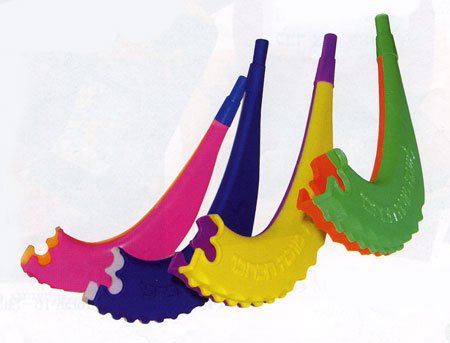 Pack of 25 Colorful Whistle Shofars