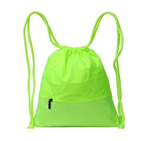 Sport Daypack Zaini Elegante Tela Zaino Coulisse Unicolor Skitor Multifunzione Verde Casual Semplice Leggero Gym Porta Viaggio Donna Pc Scuola Università Ragazze Impermeabile a7wqgz