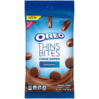 - Nabisco Oreo Thins Bites Fudge Dipped Original Sandwich Cookies 1.7 oz (Pack of 8)