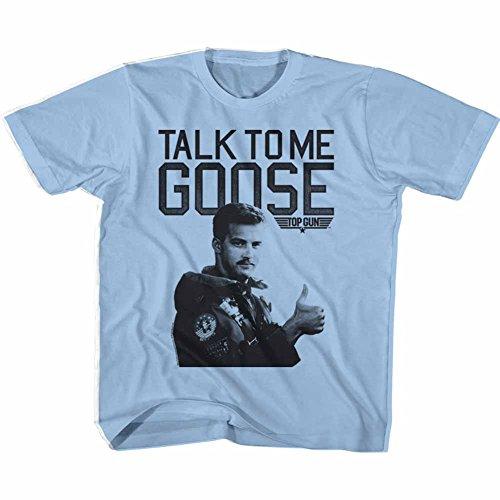 Top Gun 80's Naval Aviator Film Talk To Me Goose Lt Blue Little Boys T-Shirt - Aviators Tom Cruise