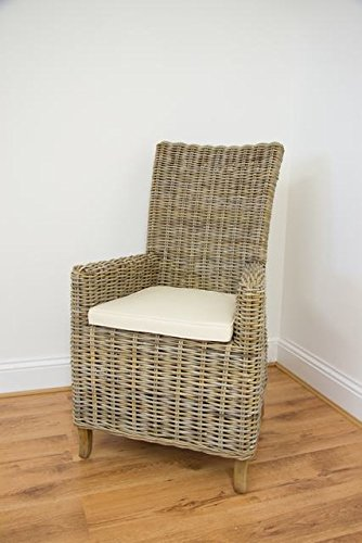 Natural Wicker Kubu Grey Latifa Armchair Inspiring Furniture LTD