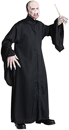 Costume Voldemort Halloween (Harry Potter Adult Voldemort Robe, Black, One)