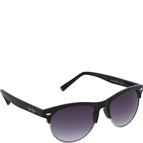 Jessica Simpson Women's J5379 OX Non-Polarized Iridium Cateye Sunglasses, Black, 55 mm