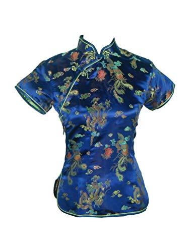 Clothing Chinese Store (Shanghai Story Chinese Cheongsam Shirt Short Sleeve China Blouse for Women 10 L)