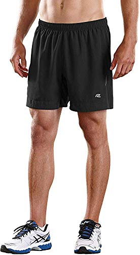 R-Gear Mens Power Up 2-in-1 Running Workout Shorts, 6-inch Length with Inner Compression Shorts and Multiple Pockets