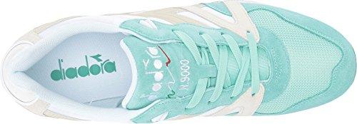 Diadora N9000 Männer runde Zehe synthetische blaue Turnschuhe Grün