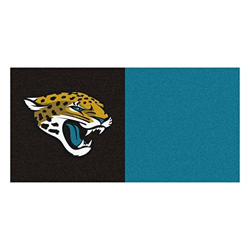 (FANMATS NFL Jacksonville Jaguars Nylon Face Team Carpet Tiles)