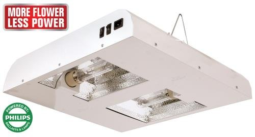 Sun System Grow Lights -  Diamond LEC 630W |  120V  |  4200K Lamps - Indoor Fixture for Hydroponic and Greenhouse Use - Philips Master Color Blue Spectrum CDM Lamps and Internal Ballast Included by Sun System Complete Systems