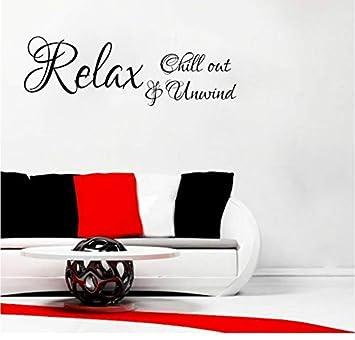 Amazon.com: LJLQ Relax Chill Out & Unwind Art Decor for ...