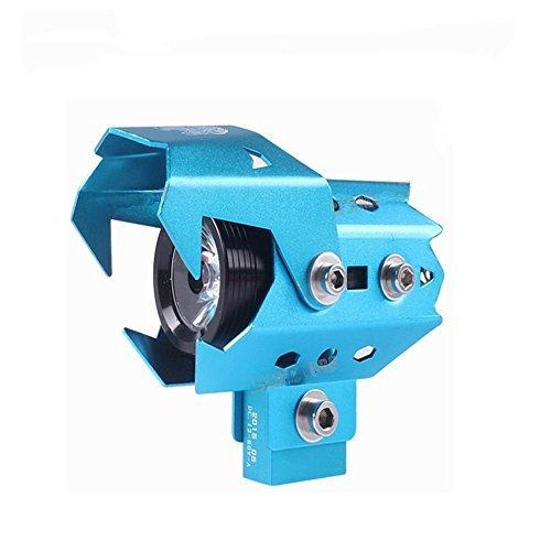 DLLL 3 Mode Strobe Waterproof Motorcycle Transformers 125W 3000LM 12V-80V Laser U8 CREE LED Headlight/Fog Lamp/Daytime Running Light/Spotlight for Bicycles,Bike,Cars,Trucks,Boat.ATV (Blue) ()