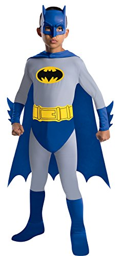 Boy's Dc Comics Batman Outfit Child Fancy Dress Halloween Costume, Child S (4-6) Grey/Blue]()