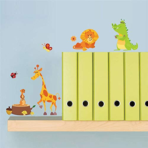 Amazon.com: JEWH Jungle Adventure Animals Wall Stickers for Kids Rooms Safari Nursery Rooms Baby Home Decor Poster Monkey Wall Decals Wallpaper: Home & ...