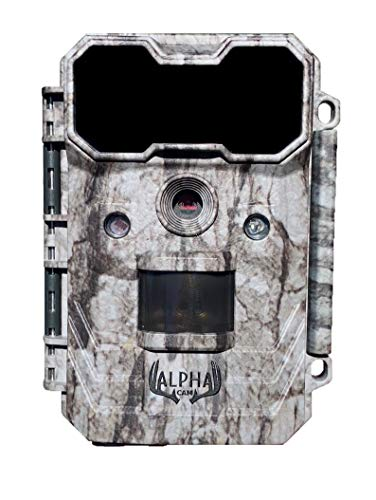 """Alpha Cam Hunting Trail Camera 20MP 1080p 30fps Waterproof Scouting Cam with Ultra Fast Trigger Speed and Recovery Rate 2.4"""" Color Viewscreen 48 IR LEDs"""