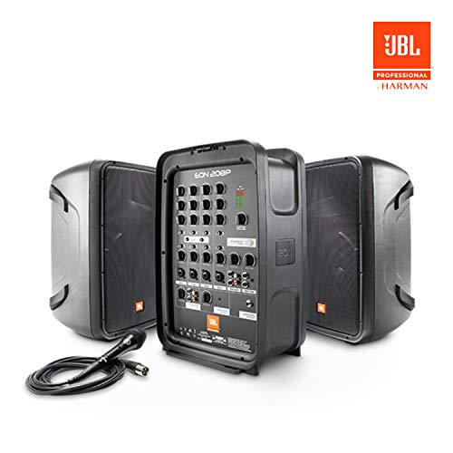 JBL EON208P Portable All-in-One 2-way PA System with 8-Channel Mixer and Bluetooth (Jbl Control One Woofer)