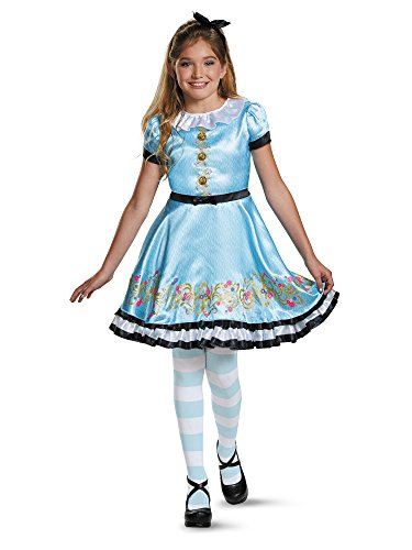 Ally Deluxe Descendants Wicked World Disney Costume, (Girls Alice In Wonderland Fancy Dress)