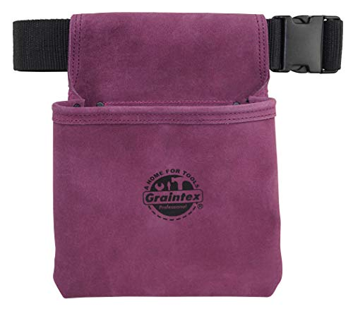 (Graintex SS2284 One Pocket Nail & Tool Pouch Purple Suede Leather)
