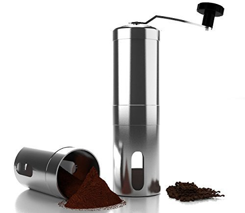 Best Review Of Top Rated Manual Coffee Grinder Maker Best Spice & Coffee Bean Grinder Stainless Stee...