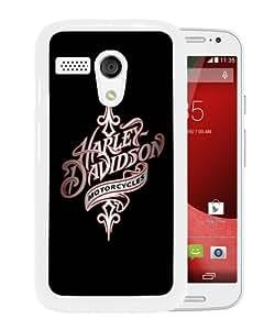 Fashionable And Unique Designed Case For Motorola Moto G Phone Case With harley davidson 1 White