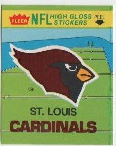 (1981 Fleer Football St Louis Cardinals Sticker/Schedule)