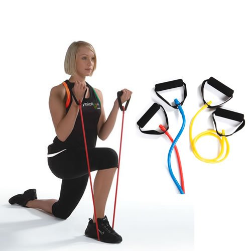 PhysioRoom Bande élastique de fitness avec poignées Leicht (Gelb)