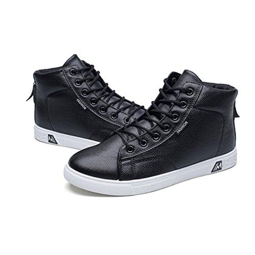 LFEU Chaussure de Course Homme Multisport Outdoors pour Basket Velcro Voyage Baskets Mode Skateboard Strass Antichoc Tendance Sneakers Classique 39-44 Noir JZuIn