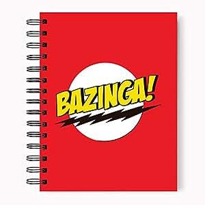 Loud Universe Bazinga Hard Bind A4 Size Spiral Notebook