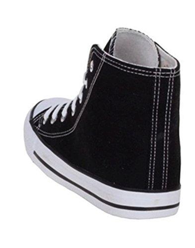 Turnschuhe Schwarz Sneakers Freizeit Jumex Top Damen High Schuhe