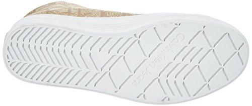 Gold Calvin Jacquard Metallic Jeans Klein Women's Zabrina Sneaker High axwqBaCr8