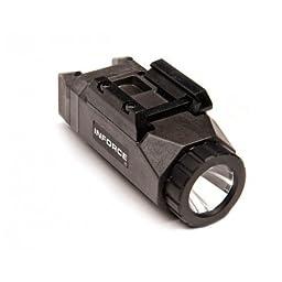 InForce APL Pistol Mounted Light, Black Body, Constant/Momentary White Light., Black, INF-APL-B-W