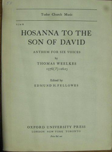 Hosanna to the Son of David (Tudor Church Music)