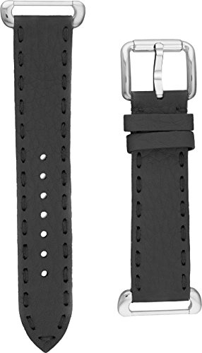 - Fendi Selleria Interchangeable Replacement Watch Band - 18mm Grey Calfskin Leather Strap with Pin Buckle SSN18R06S
