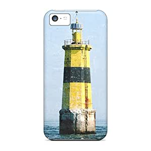 Iphone 5c Cases Covers Yellow Light House Cases - Eco-friendly Packaging