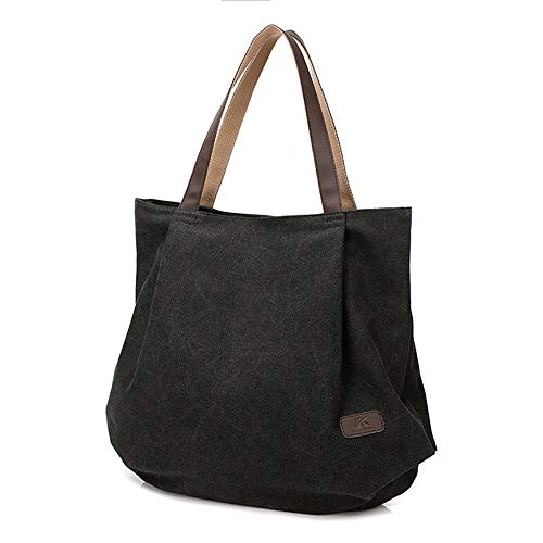 main la Jxth Messenger plage Mode Bag Schoolgirls Hobo Noir vintage Multifonctionnel à Travel Toile Sacs Casual Messenger Vintage Shopping Femmes PggwFfq74r