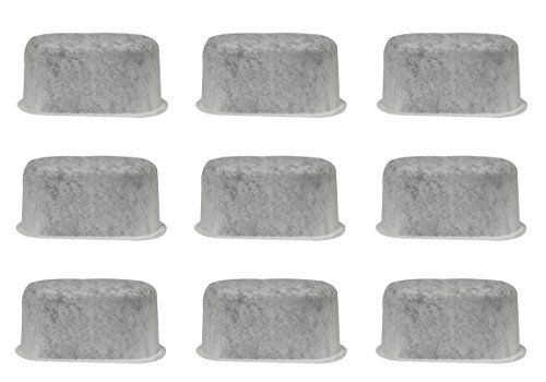 BVANQ Replacement Charocal Coffee Filters, Replaces KitchenAid KCM22WF Filters Fits for Kitchenaid Coffee Makers KCM222, KCM223, KCM1402ER 14-Cup (Set of 9)