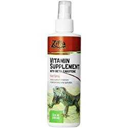Zilla Reptile Health Supplies Vitamin Supplement Food Spray, 8-Ounce