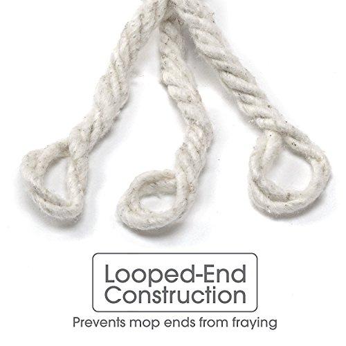 O-Cedar Commercial-Grade Heavy Duty Looped-End String Mop, 24 oz Head (Pack - 3) by O-Cedar (Image #3)