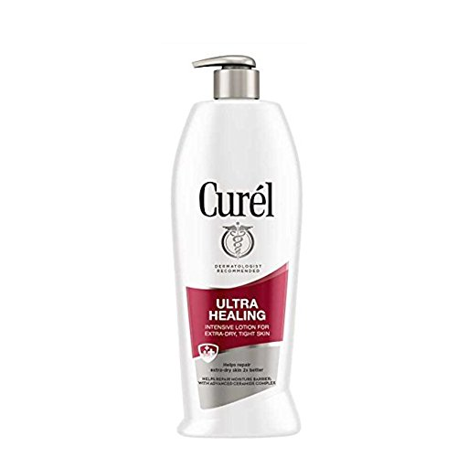 Curel Ultra Healing 24-Hour Daily Moisturizing Lotion for Extra-Dry Skin With Extra-Strength Skin Hydrators, 13-Ounce Dispenser (Pack of 3) ()