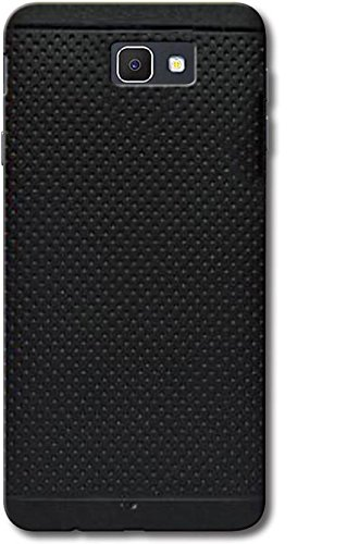 size 40 6a268 72024 Soft Rubber Back Cover for Samsung Galaxy J7 Prime (Black)