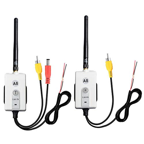 Wirelessan Wireless5.8 GHz Video Transmitter & Receiver Kit for Cars, Small Trucks, or Personal Hobby Video Transmit etc. Backup Camera System