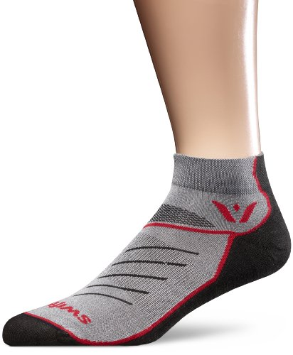Swiftwick One Vibe Socks (Medium, Black/Red/Gray)