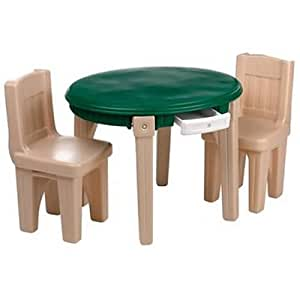 Amazon Com Step2 Lifestyle Dining Room Table Amp Chairs Set
