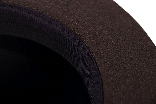 Simplicity Unisex Fedora Hats for Women Manhattan Fedora Hat, Brown by Simplicity (Image #7)