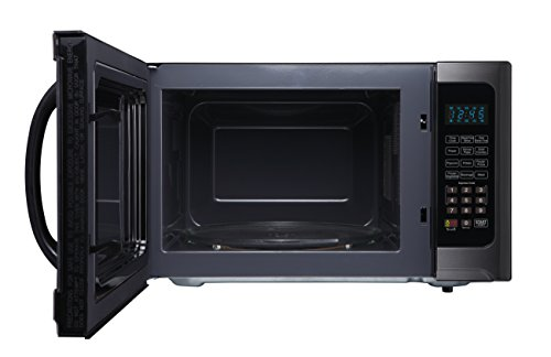 Farberware Black FMO12AHTBSG 1.2-Cubic-Foot 1100-Watt Microwave Oven with Grill Function, Black Stainless Steel
