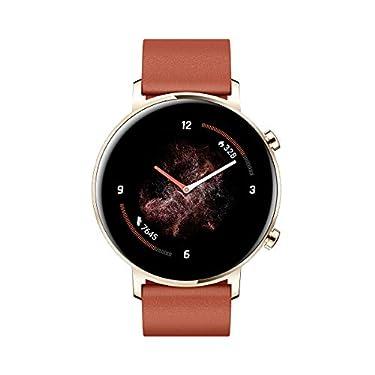 Huawei-Watch-GT-2-Smartwatch-con-Caja-de-42-mm-hasta-1-Semana-de-Bateria-Pantalla-tactil-AMOLED-12-GPS-15-Modos-Deportivos-Pantalla-3D-de-Cristal-monitorizacion-cardiaca-Rojo