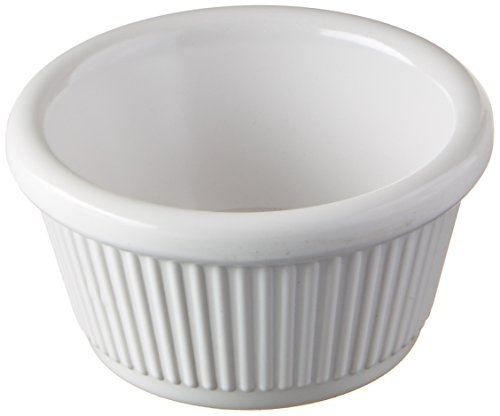 Winco RFM-2W Fluted Ramekins, 2-Ounce, White, 12-Pieces by Winco