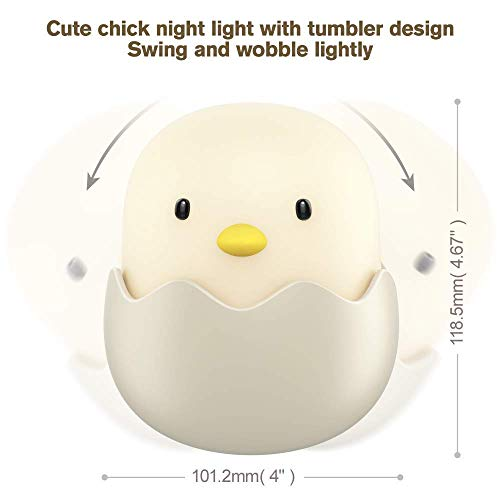(Updated Version)Tecboss Night Light for Kids, Baby Night Light Touch Control Rechargeable Nursery Lamp Cute Chick Nightlights for Breastfeeding Kids Children Room by Tecboss (Image #5)