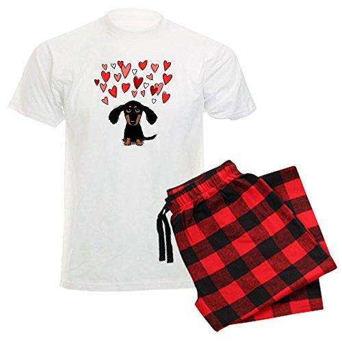 CafePress Cute Dachshund - Unisex Novelty Cotton Pajama Set, Comfortable PJ Sleepwear (Christmas Pajamas Dachshund)
